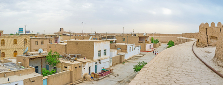 residential neighborhood: The medieval residential neighborhood inside the fortification of Itchan Kala, Khiva, Uzbekistan.
