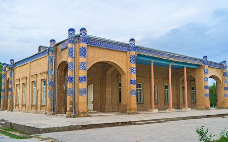 20th century: The Palace of Nurullah-bai is the mix of the local and European architectural styles, built in 20th century, Khiva, Uzbekistan.