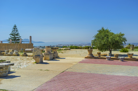 best way: Visiting of Carthage archaeological site is the best way to discover the ancient history, Tunisia. Stock Photo
