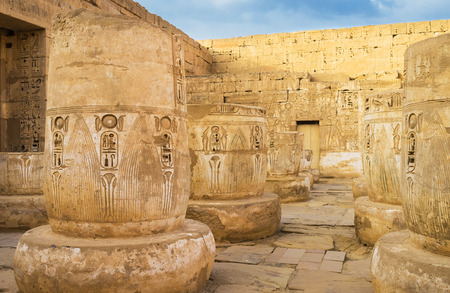 The Mortuary Temple of Ramesses III in Medinet Habu is one of the best preserved in Theban Necropolis, Luxor, Egypt.