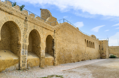 arabic architecture: The well preserved town wall is the fine example of medieval arabic architecture, Sousse, Tunisia.
