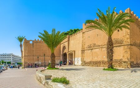 bab: SFAX, TUNISIA - SEPTEMBER 3, 2015: The  Bab El Kasbah Gates are one of the main market places in town, on September 3 in Sfax.