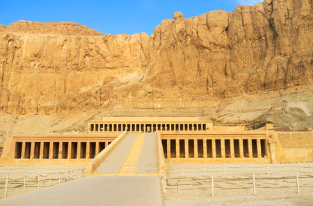 necropolis: The great temple of Hatshepsut is one of the most popular landmarks of Theban Necropolis, Luxor, Egypt.