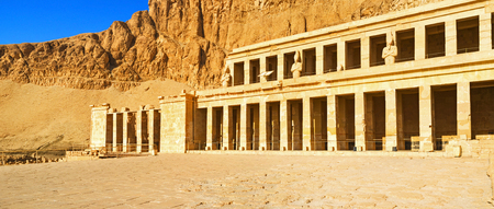 ancient civilization: The Hatshepsut Temple is one of the most beautiful preserved symbols of the ancient civilization, Luxor, Egypt.