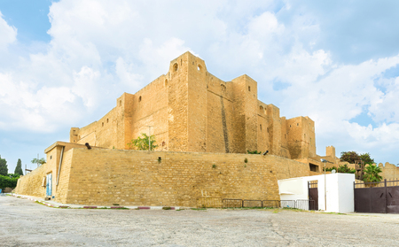 stronghold: The huge stronghold on the hill in Sousse nowadays serves as archaeological museum, Tunisia.