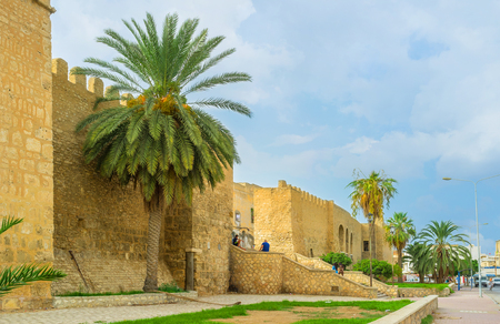 places of interest: SOUSSE, TUNISIA - SEPTEMBER 6, 2015: Sousse is one of the most popular resorts with many places of historical interest, on September 6 in Sousse. Editorial