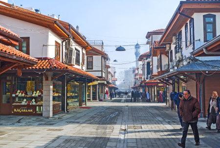 seljuk: KONYA, TURKEY - JANUARY 20, 2015: The local jewellery shops offers the wide range of islamic style jewelries, on January 20 in Konya.