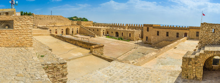 the medieval: The medieval Kasbah of El Kef is the most popular tourist landmark in town, Tunisia.
