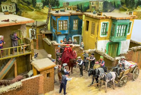 konya: KONYA, TURKEY - JANUARY 20, 2015: The diorama of the traditional Turkish vedding in village, on January 20 in Konya.