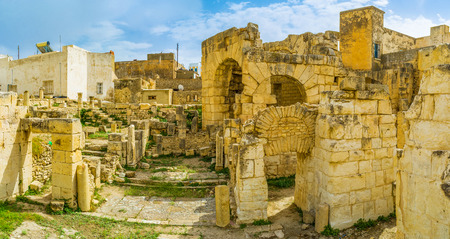 archaeological site: The archaeological site of Roman baths is one of the best preserved in town with rich antique heritage, El Kef, Tunisia.