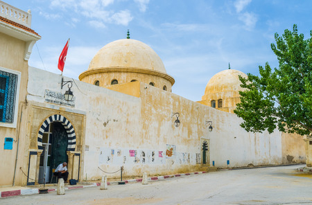 ethnographical: EL KEF, TUNISIA - SEPTEMBER 5, 2015: The Ethnographical Museum located in the large mosque in the old town, on September 5 in El Kef.