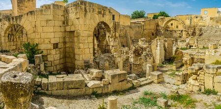 archaeological sites: El Kef boasts the numerous archaeological sites of Roman and Byzantine periods, the baths are one of the most popular of them, Tunisia. Stock Photo