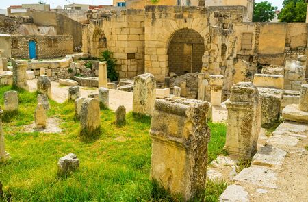 archaeological site: The scenic archaeological site of the Roman baths is the popular tourist landmark, El Kef, Tunisia.