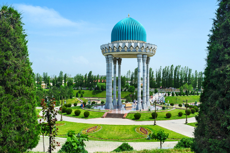 repression: TASHKENT, UZBEKISTAN - MAY 7, 2015: The scenic alcove is the memorial to the victims of repression, on May 5 in Tashkent.