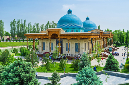 repression: TASHKENT, UZBEKISTAN - MAY 7, 2015: The building of the Museum of victims of political repression surrounded by lush garden, on May 5 in Tashkent.