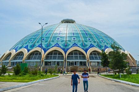 TASHKENT, UZBEKISTAN - MAY 7, 2015: The Chorsu Bazaar is one of the main city landmarks,  on May 5 in Tashkent.