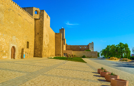 mediaval: The mediaval fortress nowadays serves as the archaeological museum of Sousse, Tunisia.