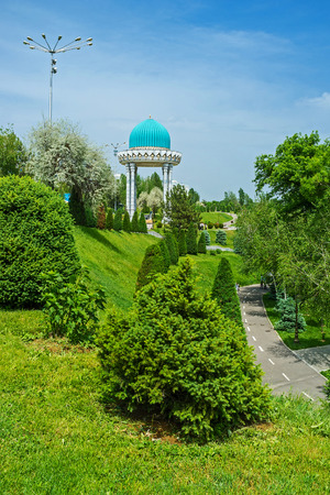 repression: The beautiful garden and alcove in memory of victims of political repression, Tashkent, Uzbekistan.