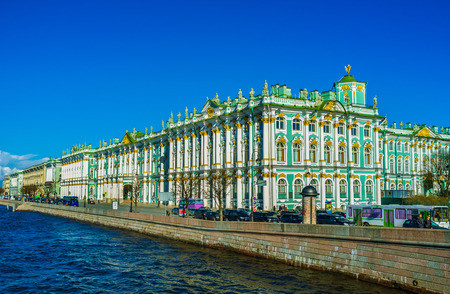 SAINT PETERSBURG - APRIL 24, 2015: One of the most beautiful palaces ever made is the Winter Palace in Saint Petersburg, on April 24 in Saint Petersburg.