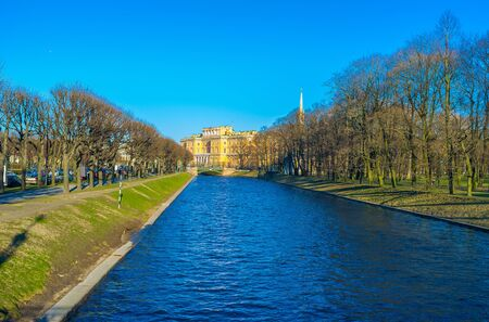 best place: The shady promenade along Moika River next to the Saint Michaels Castle is the best place to have a rest from busy and noisy Saint Petersburg.