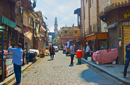 souq: CAIRO, EGYPT - OCTOBER 10, 2014: The Khan El-Khalili souq  offers goods on each taste and price, on October 10 in Cairo.