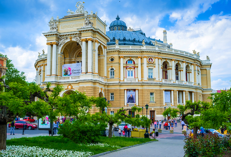 notable: ODESSA, UKRAINE - MAY 17, 2015: The Odessa National Academic Theatre of Opera and Ballet is the most notable landmark of the city, on May 17 in Odessa. Editorial
