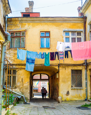 best way: The best way to feel the spirit, the noise and the flavor of the old Odessa is to visit the old neighborhood on Vorontsov Lane, Ukraine.