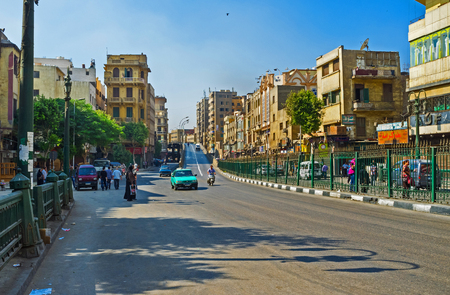 medieval: CAIRO, EGYPT - OCTOBER 12, 2014: The wide Al-Azhar Avenue is one of the main roads in city, on October 12 in Cairo. Editorial