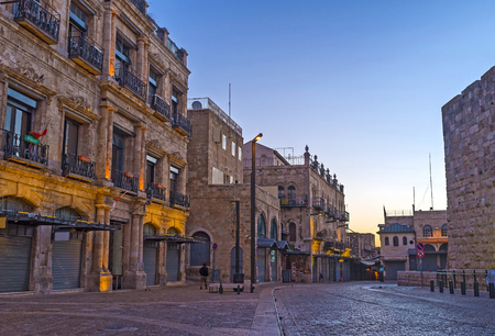 jerusalem: The early morning is the best time to discover the dreaming town, enjoy its quiet and relaxed atmosphere, Jerusalem, Israel.