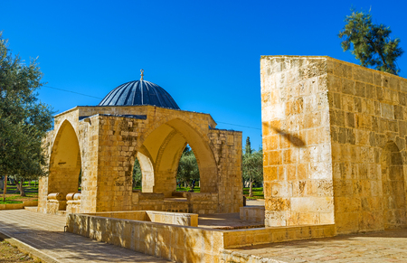 temple mount: The Qubbet Suleiman is one of the landmarks of the Temple Mount, Jerusalem, Israel.