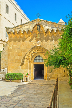flagellation: The Church of the Flagellation is one of the stations of Via Dolorosa, on the path of Jesus to the crusifixion, Jerusalem, Israel.