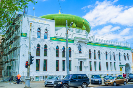 salam: ODESSA, UKRAINE - MAY 18, 2015: The beautiful Al Salam mosque is the pearl of the city architecture, on May 18 in Odessa.