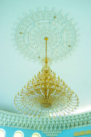 odessa: ODESSA, UKRAINE - MAY 18, 2015: The beautiful chandelier was made in the same style as the interior of the Al Salam Mosque, on May 18 in Odessa. Editorial