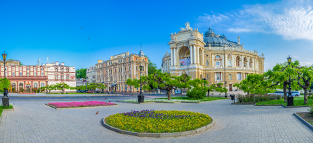 ODESSA, UKRAINE - MAY 18, 2015: The Opera Theatre is the most beautiful building in the city, on May 18 in Odessa.