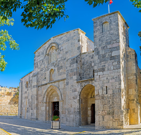 The St Anne's Church was built over the site of grotto, that is the birthplace of the Virgin Mary and preserved since Crusader times, Jerusalem, Israel. Zdjęcie Seryjne
