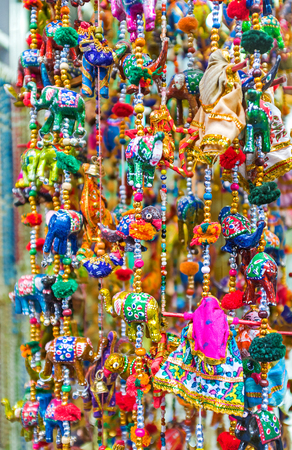 wind chimes: The wind chimes with colorful toys are the perfect gift, Jerusalem, Israel.