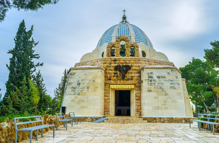 The Shepherds Field Chapel was built in the place where, according to the Holy Bible,  the angel announced to the shepherds, Bethlehem, Palestine, Israel.