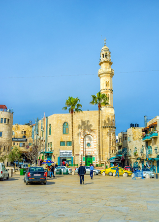 omar: BETHLEHEM, PALESTINE - FEBRUARY 18, 2016: The Mosque of Omar is the only mosque in the city centre, on February 18 in Bethlehem. Editorial