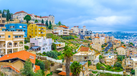 The city Nazeret located in the hilly region Galilee in north of Israel.