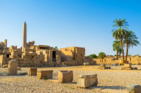 archaeological sites: The Karnak Temple is one of the biggest archaeological sites in Egypt with numerous preserved ancient artifacts, Luxor.