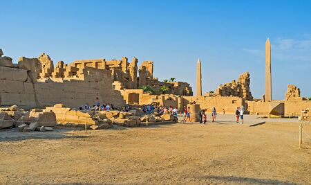 archaeological sites: LUXOR, EGYPT - OCTOBER 7, 2014: The Karnak Temple complex is one of the largest and most interesting archaeological sites in country, on October 7 in Luxor. Editorial