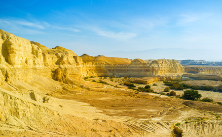 The scenic yellow canyon in Negev desert, Israel.