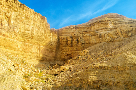 The rocks of Negev desert are famous for their beauty and amazing colors, Israel.