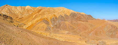 The Eilat mountains are the best place to enjoy the rich color palette of nature, Israel.