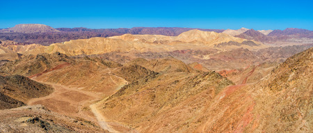 The hiking to Eilat mountains is the popular tourist attraction in Israel.
