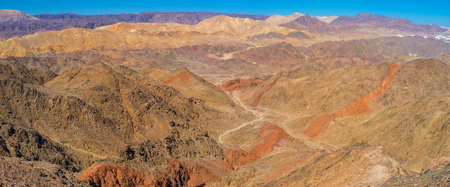 The brightest colors of nature in Masiv Eilat Nature Reserve, Israel. Stock Photo
