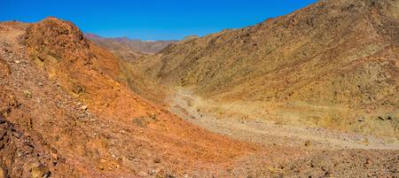 The Masiv Eilat Nature Reserve is one of the most impressive locations with unique colorfull landscape and geology, Israel.