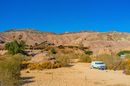 masiv: EILAT, ISRAEL - FEBRUARY 23, 2016: The Texas ranch in valley among the Eilat mountains, on February 23 in Eilat.