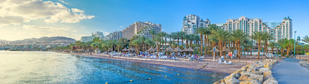 bordering: Eilat is the scenic and luxury Israeli resort, located in Aqaba Gulf of the Red Sea and bordering with Jordanian Aqaba and Egyptian Taba.