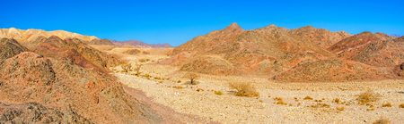 The hiking in Eilat mountains is an alternative to a beach holiday for those who want the change of scenery, Israel.